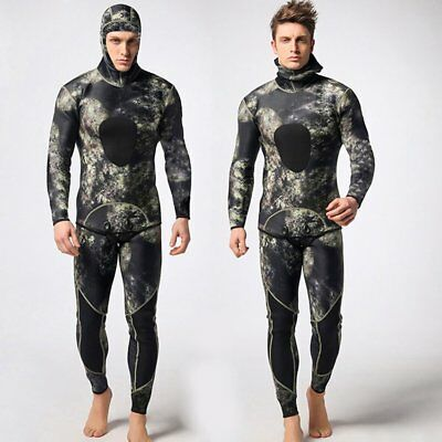 2PCS Men Diving Suit Neoprene 3mm Spearfishing Wetsuit Surf Snorkel Swimsuit GU