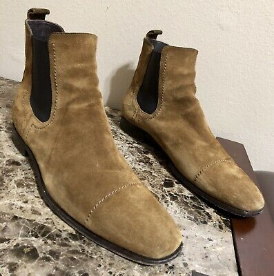 b13a2a39 MEN'S ERMENEGILDO ZEGNA Chestnut Suede Chelsea Boots Size US 10.5 Made In  Italy