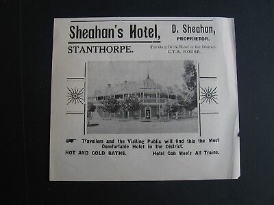 Sheahan's Hotel , Stanthorpe, Queensland . D Sheahan