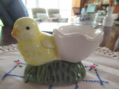 Vintage Egg Cup  Yellow Chicken
