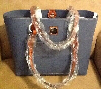 4a1b8f152 Nwt Dooney & Bourke Tammy Tote In Steel Blue Pebble Leather - Bpebl1312 Xqtn
