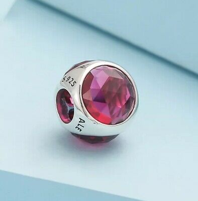 Authentic PANDORA Radiant Droplet Charm, Royal Red Crystals 792095#