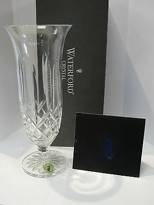 "Waterford Crystal Lismore Footed 9"" Vase 146138 NIB"