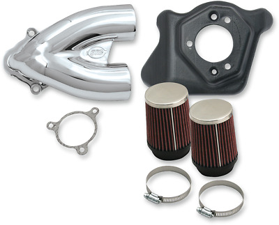 S & S Cycle Tuned Induction Kit Chrome #170-0310B