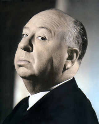 """ALFRED HITCHCOCK HOLLYWOOD DIRECTOR PRODUCER 8x10"""" HAND COLOR TINTED PHOTOGRAPH"""