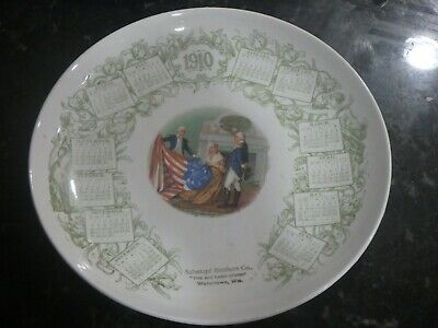 Old Calendar Plate Watertown, Wisconsin - Schempf Brothers Co