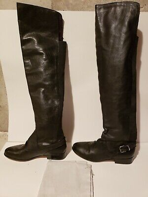 9d9a7f6dbf1 NIB DOLCE VITA size 6.5 WOMEN S DAVIE OVER THE KNEE BLACK LEATHER BOOTS