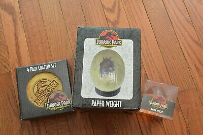 Jurassic Park 25th Anniversary Mosquito Raptor Egg Paper Weight 4 Pack Coaster