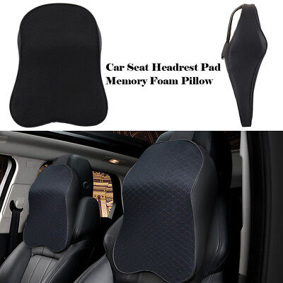 Car Seat Headrest Pad Memory Foam Pillow Head Neck Rest Travel Support Cushion