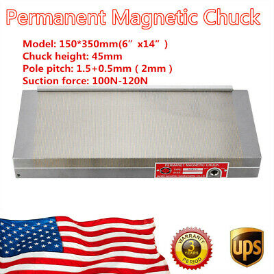 """150*350mm(6""""X14"""") 100N-120N Stable Permanent Magnetic Chuck For Grinding Machine"""