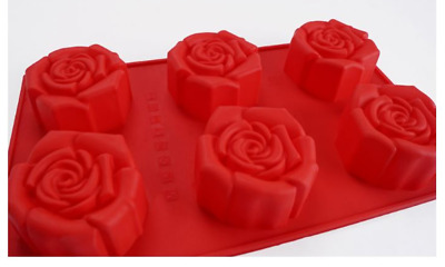 Six Elegance Roses Silicone soap Mould plaster Mold
