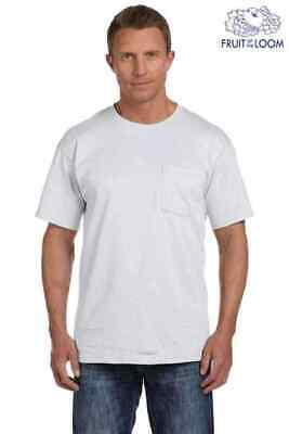 Fruit of the Loom Men's Crew-Neck T-Shirts White Size Large  5-Pack TAGLESS