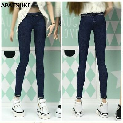 Elastic Jeans Pants For 1:6 Doll Clothes Shorts For Blythe 1/6 Doll Trousers
