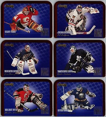 1995-96 Donruss Between The Pipes Hockey Insert Cards - Pick Singles  Finish Set