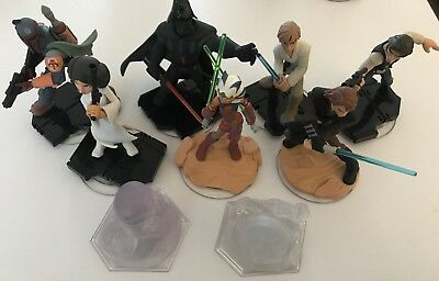 Disney Infinity Star Wars Bundle | 7 Figures & 2 Playset Crystals | All Consoles