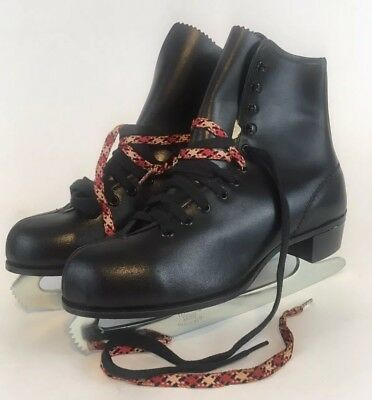 ab1e9ad34da Vintage PaceMaker Womens Ice Skates Black Leather New Never Used In Box  Size 6.5