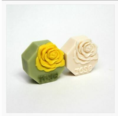 Single octagonal rose Silicone soap Mould plaster Mold