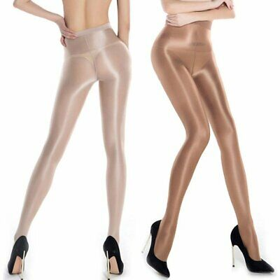 70D Womens Sheer Shiny Oil Silk Ultra Shimmer Tights Footed Stockings Pantyhose