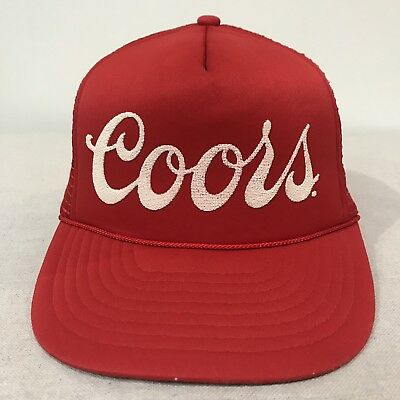 COORS LIGHT HAT Snapback OTTO Grey Red  BRAND NEW  Canvas Baseball ... 17bc67fad0b6