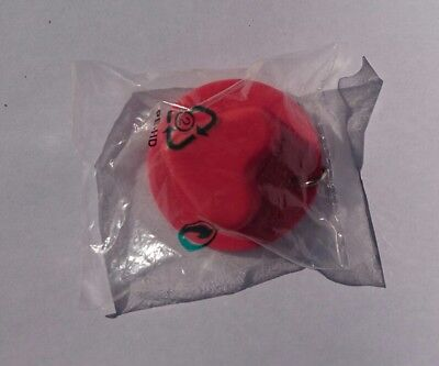 Neuf - Tupperware miniature Porte-clés keychain Moule Coeur silicone rouge