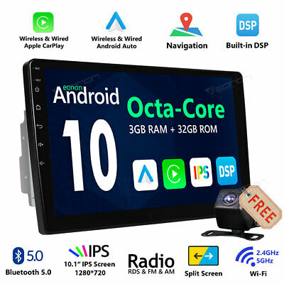 Universal 10Inch Touch Android 10 Car Stereo Radio MP5 Player AM/FM GPS Navi DSP