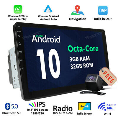 Universal 10Inch Touch Android 8.1 Car Stereo Radio MP5 Player AM/FM GPS Navi BT