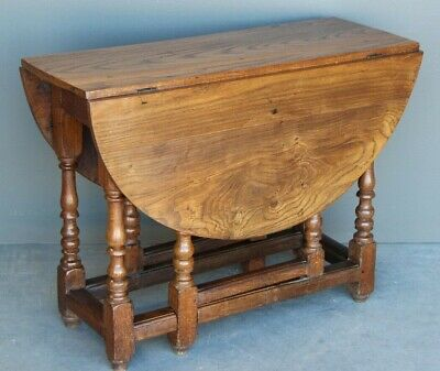 Antique English Georgian 18th century gateleg table patina 1750 original pegged