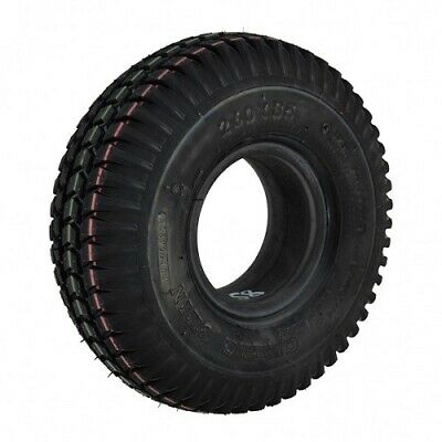 Set of x4 Tyres 260x85 3.00-4 Black Mobility Scooter Tyre 300x4 (2 Block 2 Rib)