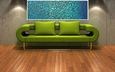 Print dreaming fish australia painting canvas landscape art blue Abstract