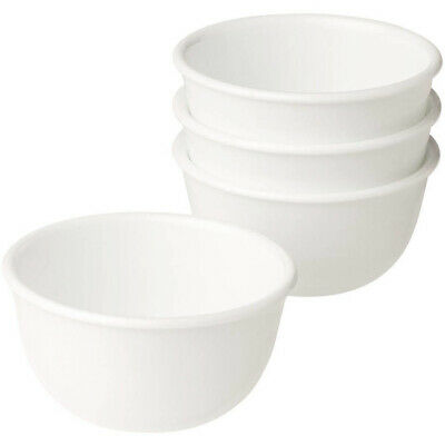 Rice Bowl Set 4 Piece 12 Oz White Kitchen Dining Round Soup Cereal Dinnerware