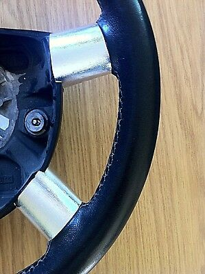 Ford Mondeo Mk 3 / 4 Steering Wheel Spoke Trims - Brushed Silver Chrome Effect