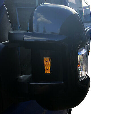 BLACK MOTORHOME LONG ARM MIRROR PROTECTORS GUARDS Fiat Ducato Boxer Citroen