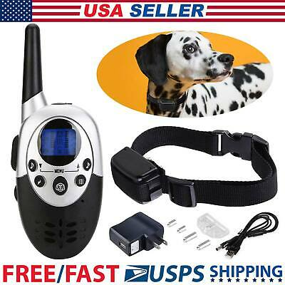Waterproof Shock Vibrate Remote Training Collar for Small Med Large Dog 1000Yard