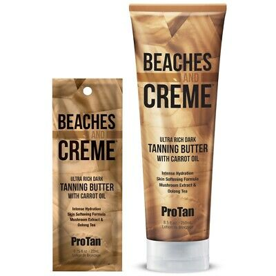Pro Tan Beaches & Cream Dark Tanning Butter with Carrot Oil sunbed lotion cream