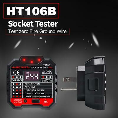 HABOTEST Socket Tester Digital Display Plug In Electric Mains Fault Checker kit