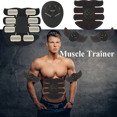 3 in 1 EMS Fitness ABS Abdominal Arm Body Toning Muscle Toner Trainer Smart Belt