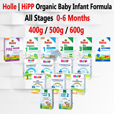 Holle HiPP Organic Baby Infant Formula Milk lot Stage 1 2 3 4 Pre 400g/500g/600g