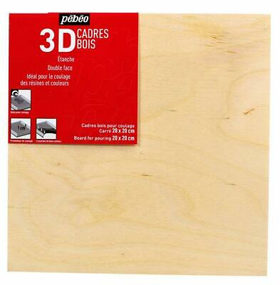 Pebeo Wooden 3D Board for Paint Pouring Mixed Media Resin Art 20 x 20cm