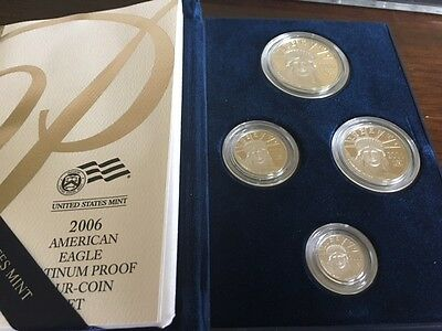 2006-W Proof Platinum American Eagle 4 Coin Set - with Box and Certificate