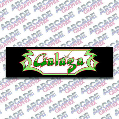 Arcade1up Cabinet Galaga Arcade Game Marquee Graphic Decal Sticker