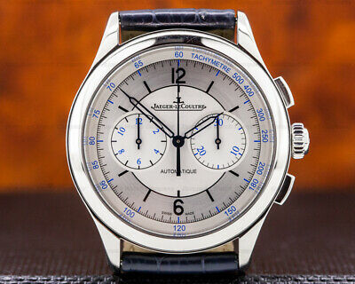 Jaeger LeCoultre Q1538530 Master Chronograph Sector Dial SS BOX AND PAPERS