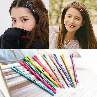 40x Candy Color Hairpin Wave Barrette Spiral Side Clip Bobby Hair Pin for Girls