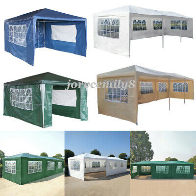 3Mx3M 4M 6M 9M PE Gazebo Waterproof Garden Marquee Canopy Party Outdoor Tent UK