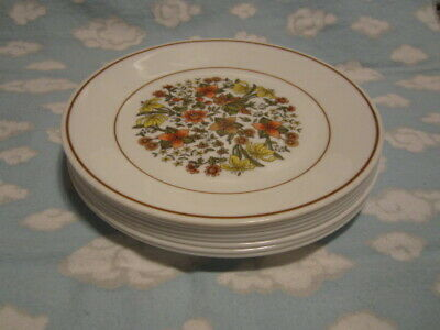 Corelle/Corning=Indian Summer  Luncheon Plates=Set Of Eight=All To Go One Price