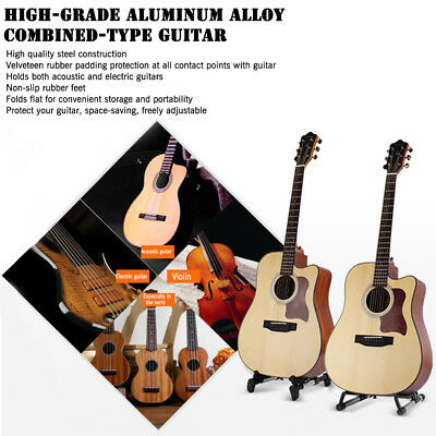 Folding Electric Acoustic Bass Guitar Stand A Frame Floor Rack Holder 0In