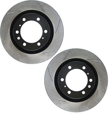 Ceramic Brake Pads For 2014-2017 Ford Fiesta Rear eLine Plain Brake Rotors