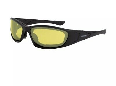 6141136f6f47d Crossfire MP7 Safety Glasses with Yellow Anti-fog Lens and Black Frame