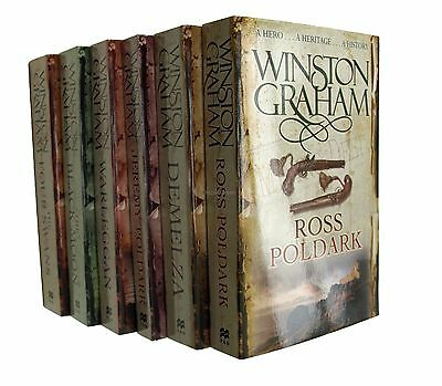 Poldark 6 Books Winston Graham Series  1 to 6 Cornwall Demelza Jeremy Ross New