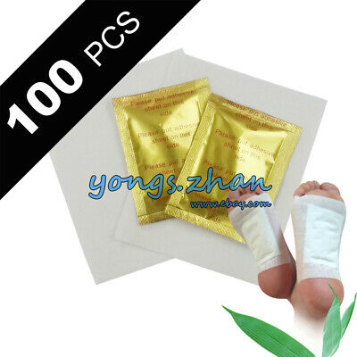 100 x Detox Kinoki Foot Patch Pad Natural plant Herbal Toxin Removal Weight Loss