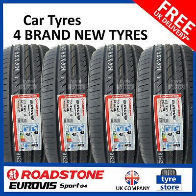 New 255 45 18 ROADSTONE EUROVIS SP04 255/45R18 2554518 *B/A RATED* (2,4 TYRES)